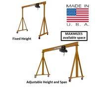 PORTABLE FIXED & ADJUSTABLE HEIGHT STEEL GANTRY CRANES